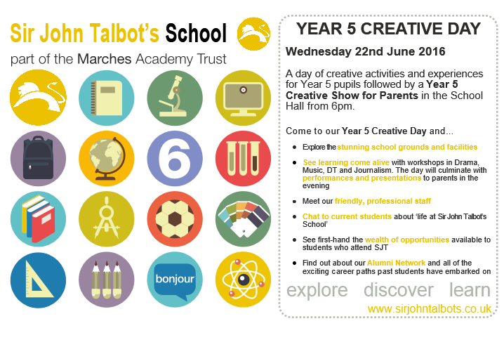 Join us for our Year 5 Creative Day