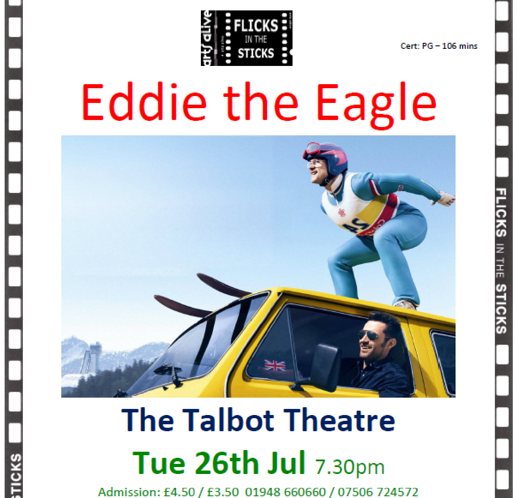Tuesday 26th July - The Talbot Theatre
