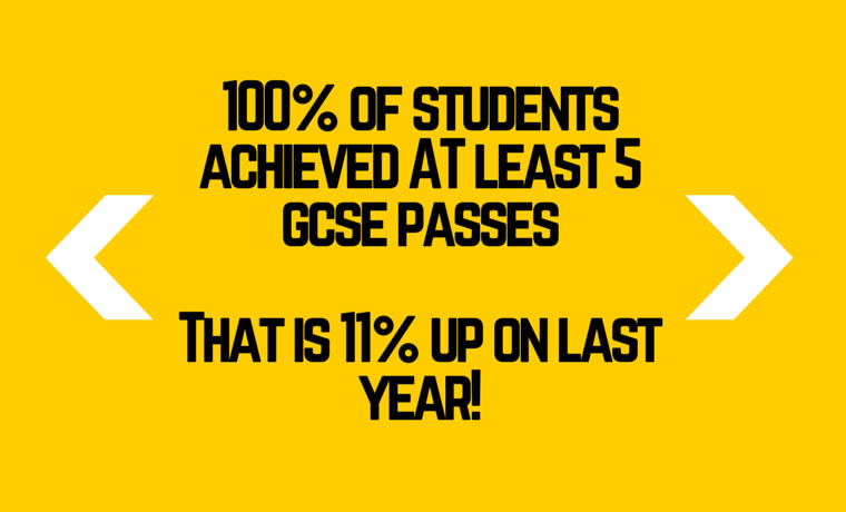 Well done to all our GCSE students!