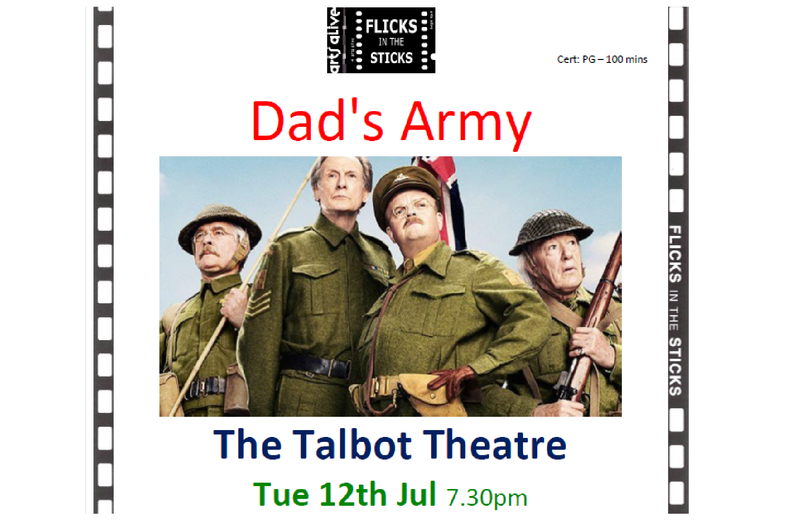 Tuesday 12th July - The Talbot Theatre
