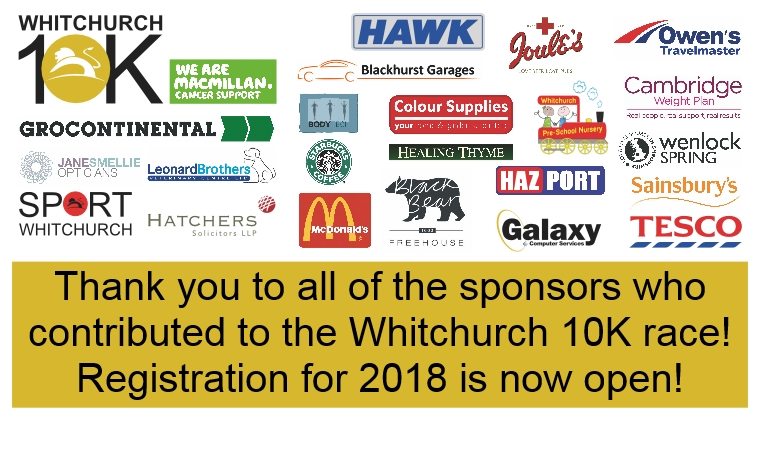 Click here to register for the Whitchurch 10K 2018