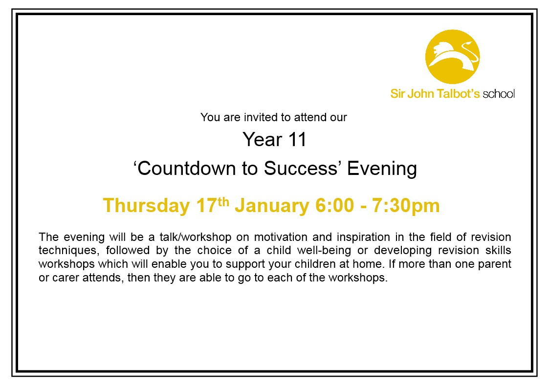 Year 11 Countdown to Success Evening