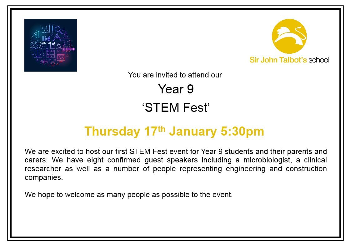 Year 9 STEM Fest