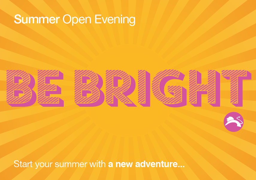 Click here to register for Open Evening